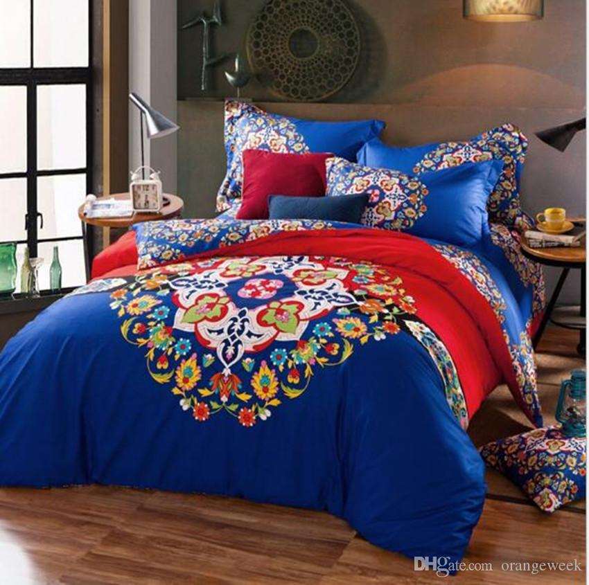 high qualit bed sheet luxury 3d print floral bedding sets comforter sets queen size duvet cover bed sheet autumn winter bed clothes duvet and duvet cover - King Size Bed Sheets