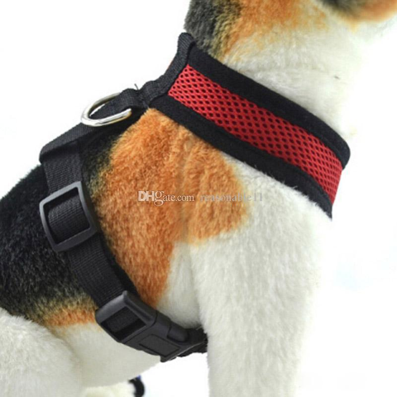 Dog Harness Adjustable Soft Breathable Nylon Mesh Vest Harness for Dogs Pets Collar Pets Chest Strap Leash