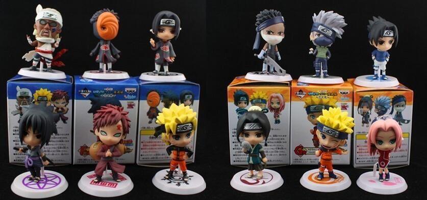 Toptan-Yeni Tasarım PVC Anime Naruto Action Figure Shikamaru, Kakashi, koleksiyon için Sasuke Model Oyuncak