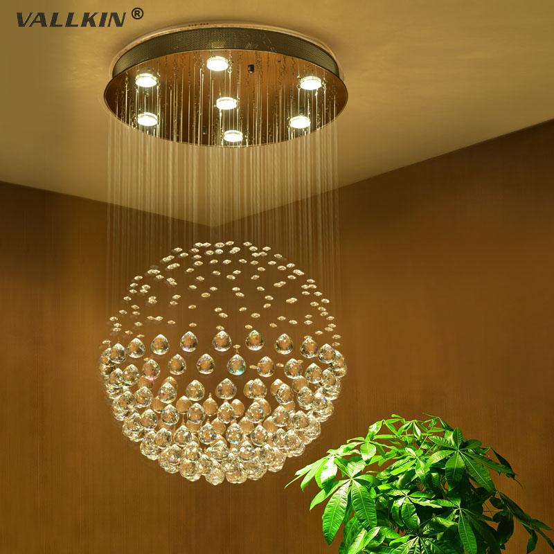 VallkinR Modern Crystal Ceiling Chandeliers Led Pendant Light Lighting Lamps Fixtures For Stair Dining Room With Ac100 To 240v Ce Fcc Rohs Chihuly