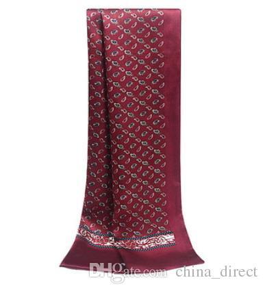メンズ2プリーシルクスカーフ男性シルクスカーフネックスカーフスカーフ15ピース/ロット#1868