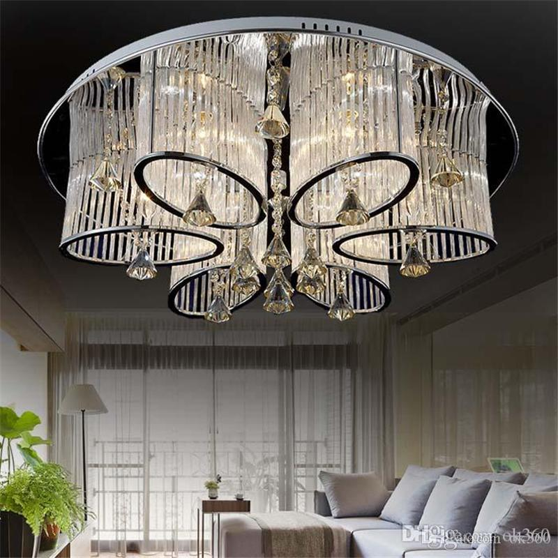 Dia 68cm/80cm New Modern Crystal Chandelier Living Room Ceiling ...