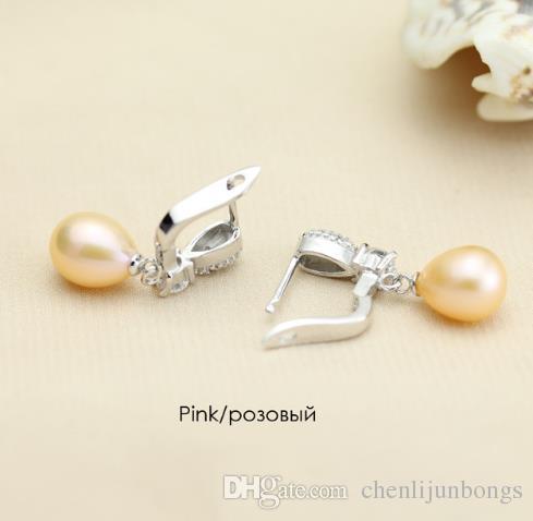 YouNoble Boucle d'oreille en argent 925 avec perles pour femmes