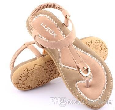 Sandalias Zapatos Mujer Gladiador Sandalias Chanclas Sandalias Mujer Sapato Feminino Sandale Plana Femme Pinzas Sandales