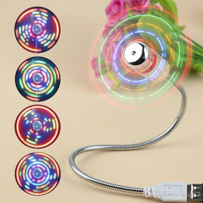 New Portable Mini USB2.0 Cool Fan with LED Light Switchable For Laptop/Notebook/Desktop Computer