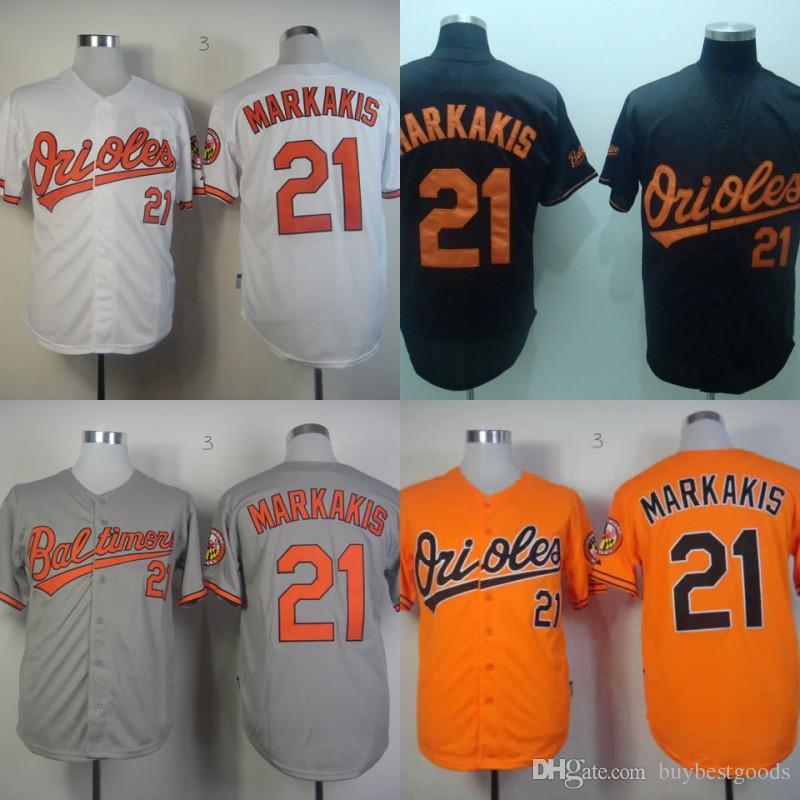 b71184d62 ... Baltimore Orioles Jerseys Cheap Baseball Shirt 21 Nick Markakis Jersey  with 25th Patch White Orange Black .