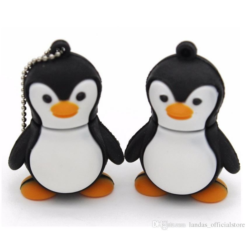 Genuine cartoon penguin USB Flash Drive U Disk USB Creativo Pendrive 4gb 8gb 16gb 32gb Memory Stick Real capacity