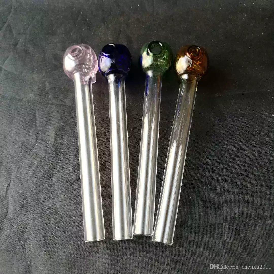 Venda quente Colorido Glas queimador de óleo da tubulação de vidro claro tubo de tubo de vidro de vidro do queimador de óleo de unha em estoque frete grátis