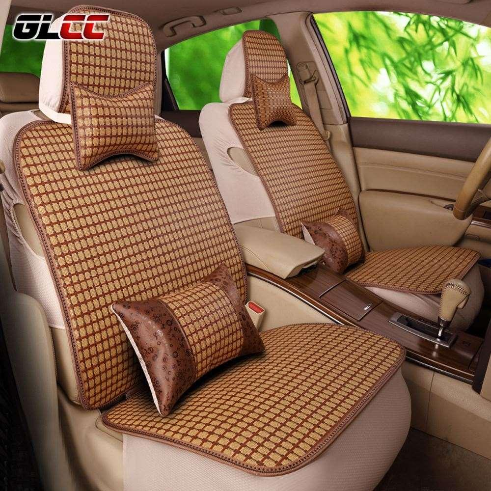 Glcc 2017 New Design Car Bamboo Seat Cover Set Universal Fit 5 Seats