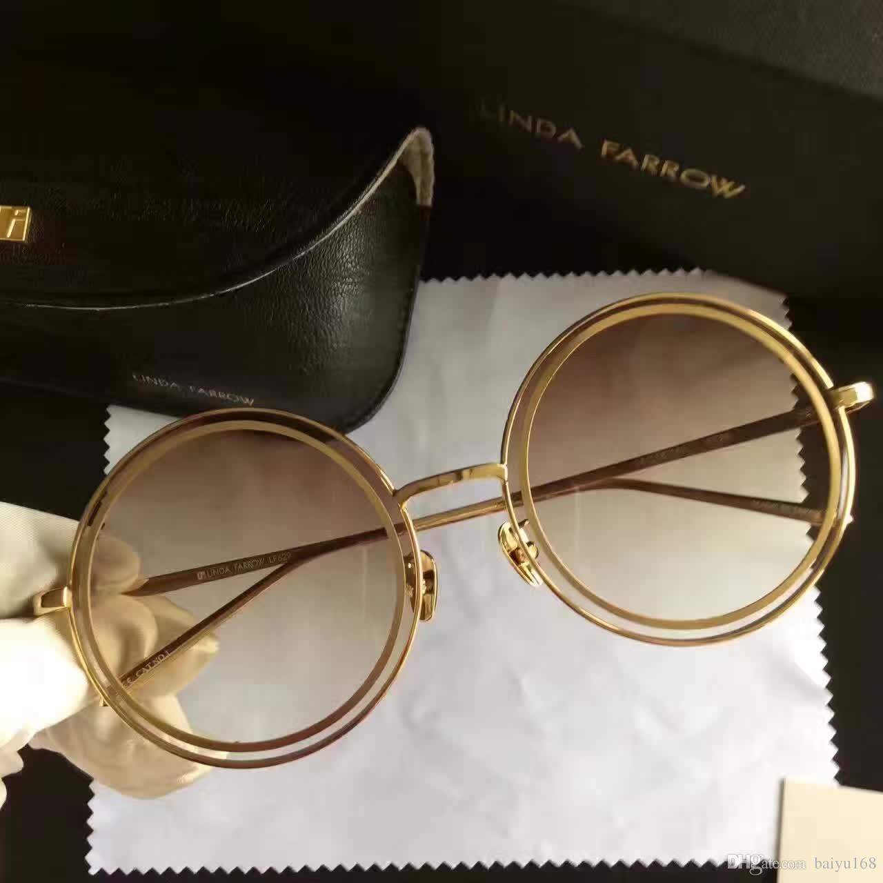 2017 Linda Farrow Lf629 Round Sunglasses Brown Shade Lens Brand New With  Box Sunglasses Sale Kids Sunglasses From Baiyu168, $52.27| Dhgate.Com