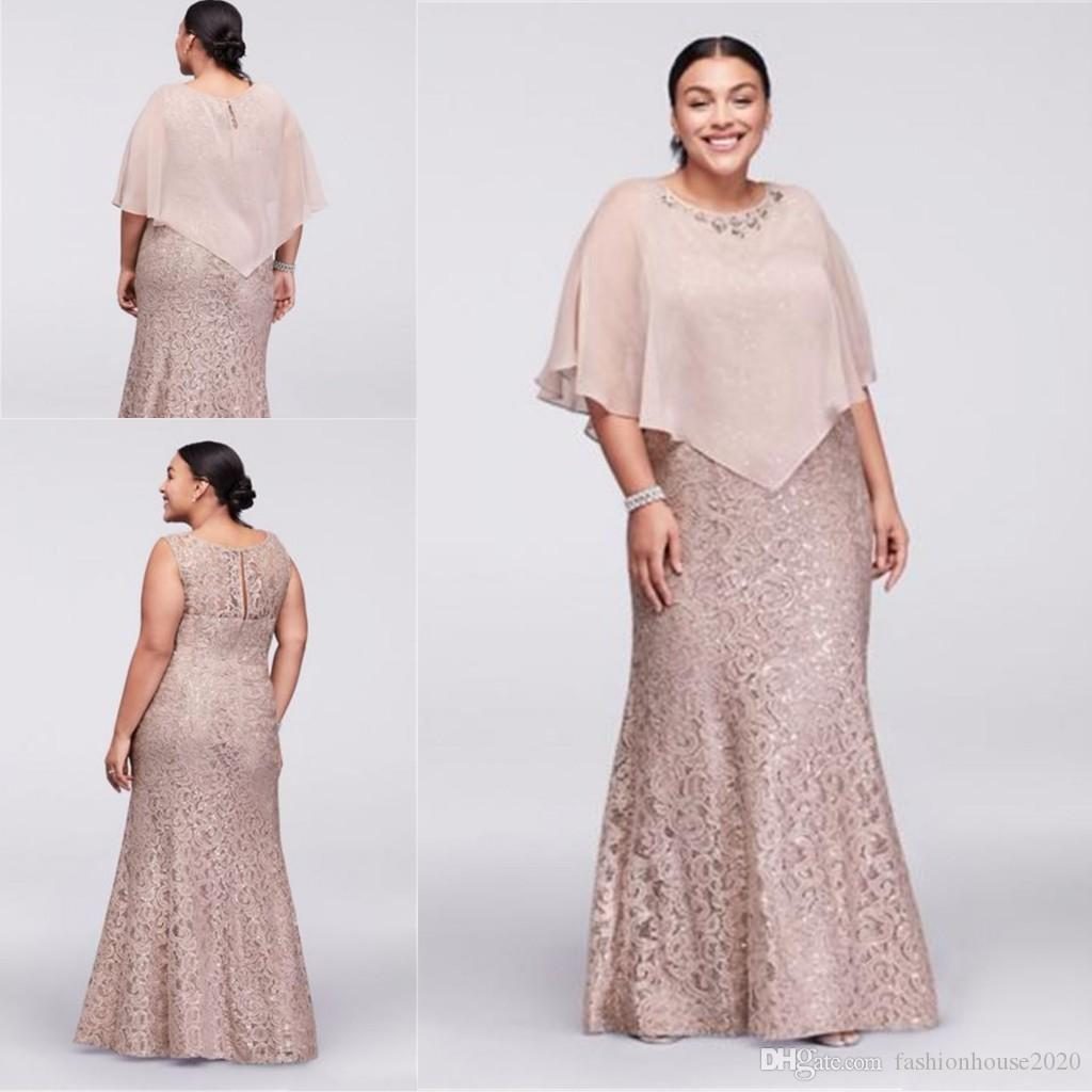 2017 Mother Off Bride Dresses Jewel Neck Champagne Full Lace With