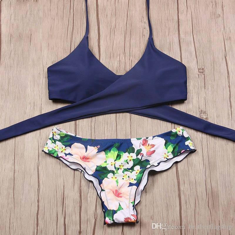 eb3fb8cdda 2019 2017 Sexy Cross Brazilian Bikinis Swimwear Female Swimsuit Push Up  Bikini Set Halter Top Beach Bathing Suits Swim Wear From Brotherflagship