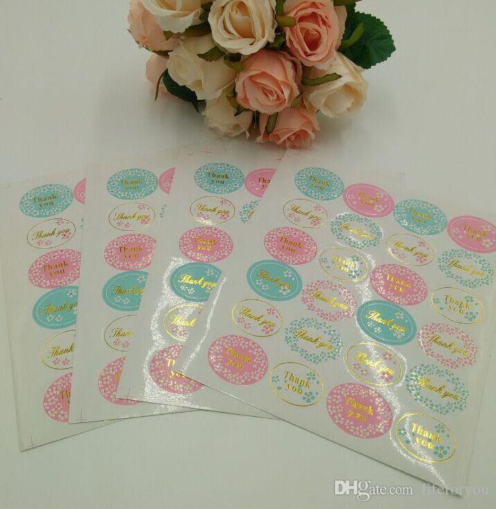 تفضل هدايا الزفاف الضيف ملصقا ختم شكرا لك هدية التفاف ختم بطاقات التعبئة والتغليف الزينة ملصقات حزب لكل ورقة