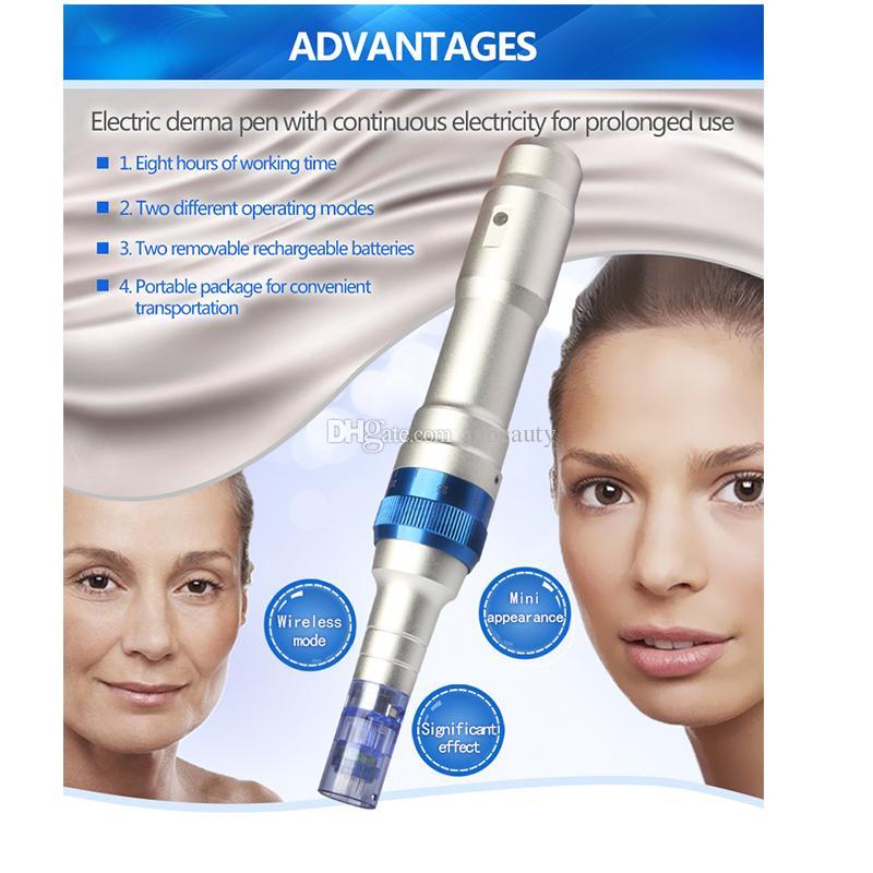 2016 Sıcak satış microneedle elektrik derma kalem ULTIMA A6 anti-aging elektrikli makyaj çıkarıcı ürün