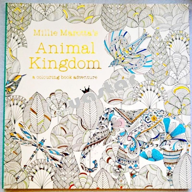 96 Pages Animal Kingdom Coloring Book English Edition For Children Adults Relieve Stress Painting Drawing Antistress Color Print