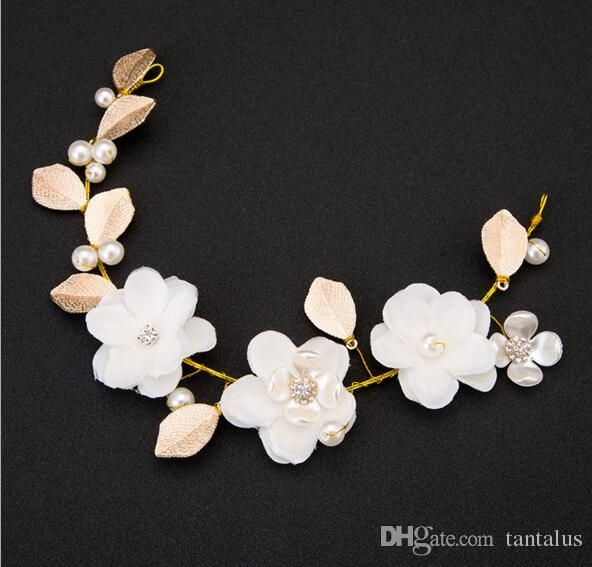 Fashion hair accessories simulated pearl leaf hair clip wedding fashion hair accessories simulated pearl leaf hair clip wedding tiara hairpins white flower hair crown crystal hairbands bridal jewelry hair accessories for mightylinksfo