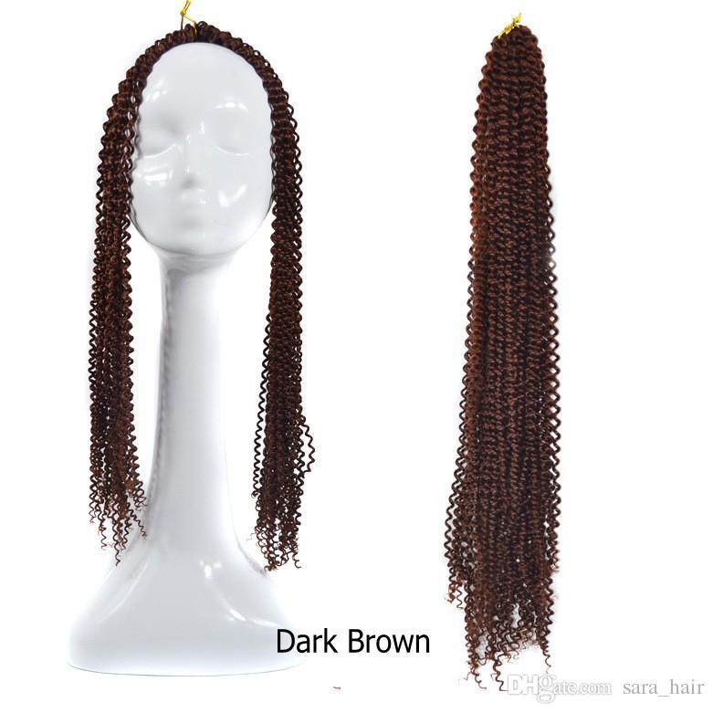 Kinky Deep Curly Crochet Afro Braiding Cheveux En Vrac Bounce Coiffure Twist Kanekalon Cheveux Extension 60CM, 24