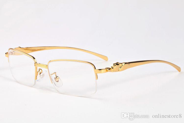 New Retro Casual Óculos Simples Limpar Lens Meia Armação Nerd Óculos Moda Mens Womens Vintage Eyewear Óculos De Sol Leopardo