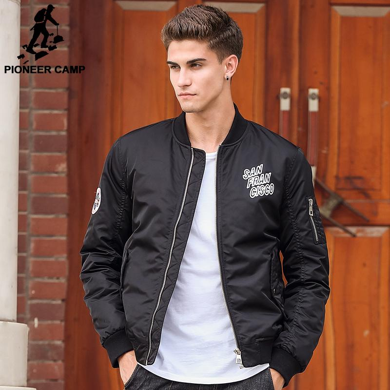 2d2bd44cf3c Wholesale Pioneer Camp Bomber Jacket Men Brand Clothing Male Autumn Winter  Thick Coat Top Quality Black Cotton MA1 Bomber Jacket 611602 Mens Coat  Jacket ...