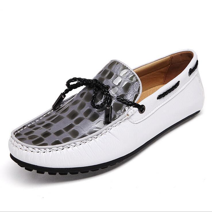b1f37882d9 Big Size Italian Mens Loafers Crocodile Shoes Leather Luxury Brand Designer Fashion  Dress Shoes Men Casual Driving Shoes Scholl Shoes Leopard Print Shoes ...