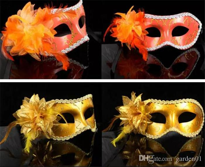 Beautiful masquerade masks for girls women in party mix mask with a flower fashionable masquerade party masks D154