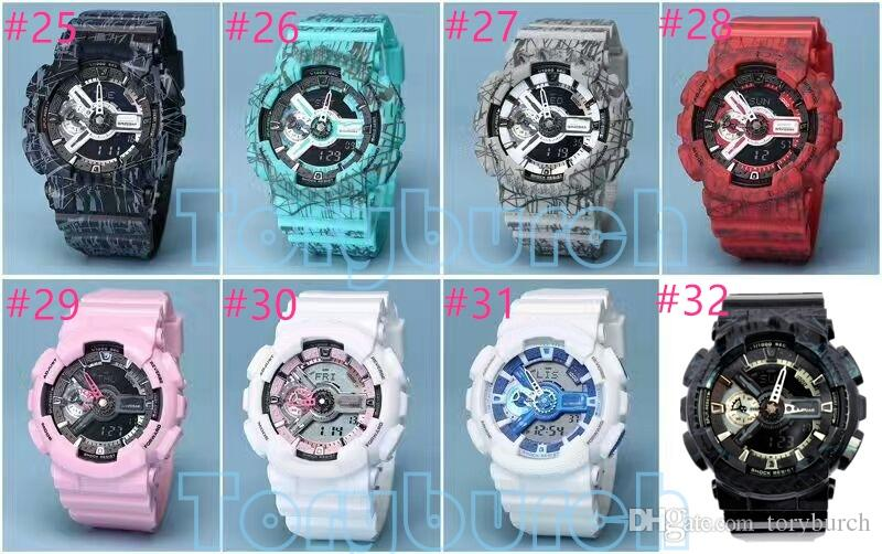 2017 New colors top quality auto light relogio fashion watch 110 men's sports watch,all small dials move,no box