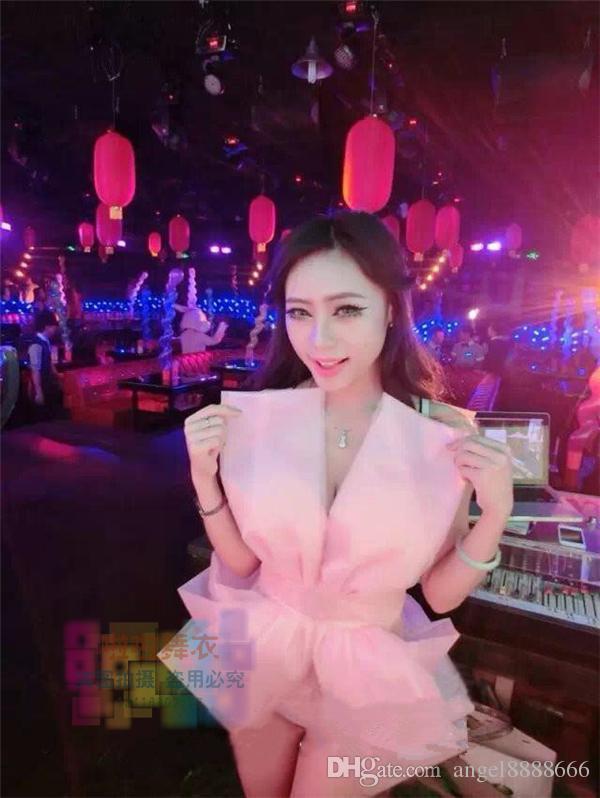 Big Bow Spitze Bodysuit sexy durchsichtigen Overall Bühne Kleid Sängerin Show Nachtclub Bar Kostüme führen Tanz Prom Party Performance tragen