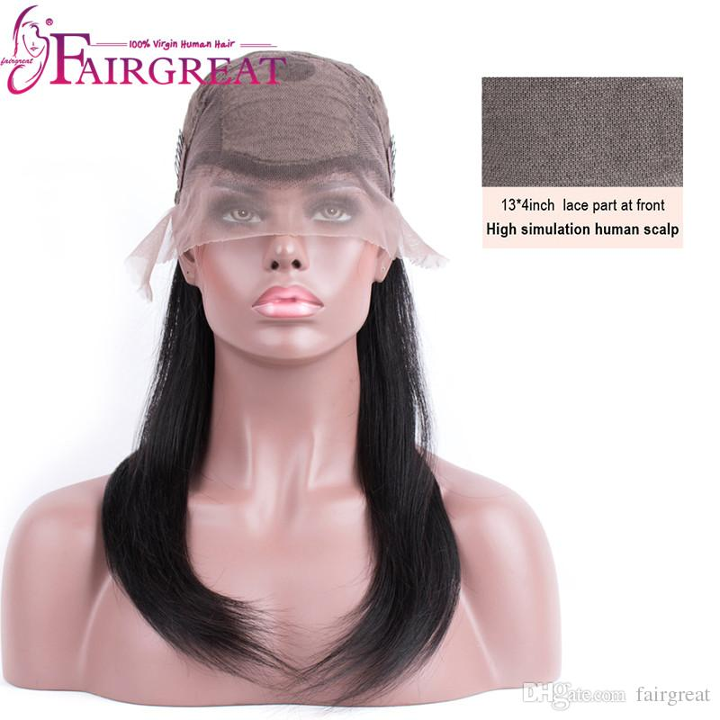 """Fairgreat 150% Density Straight Human Hair Lace Front Wigs For Black Women Non Remy 10""""-20"""" No Tangle and Shed Hair Wholesale price"""