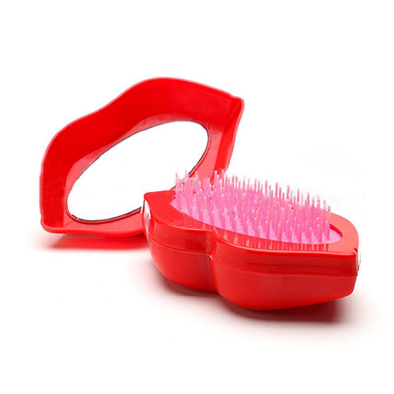 Magic Big Mouth Style Cushion Brush Hair Peine Con Espejo Para El Cuidado Del Cabello Peine Make Hair Styling Masaje Cepillo Herramientas 0604083
