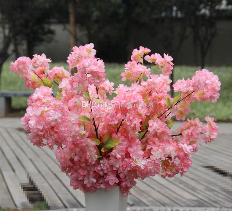 1 Metre Uzun Yapay Simülasyon Kiraz Çiçeği Çiçek Buket Düğün Kemeri Dekorasyon Garland Ev Dekor Malzemeleri