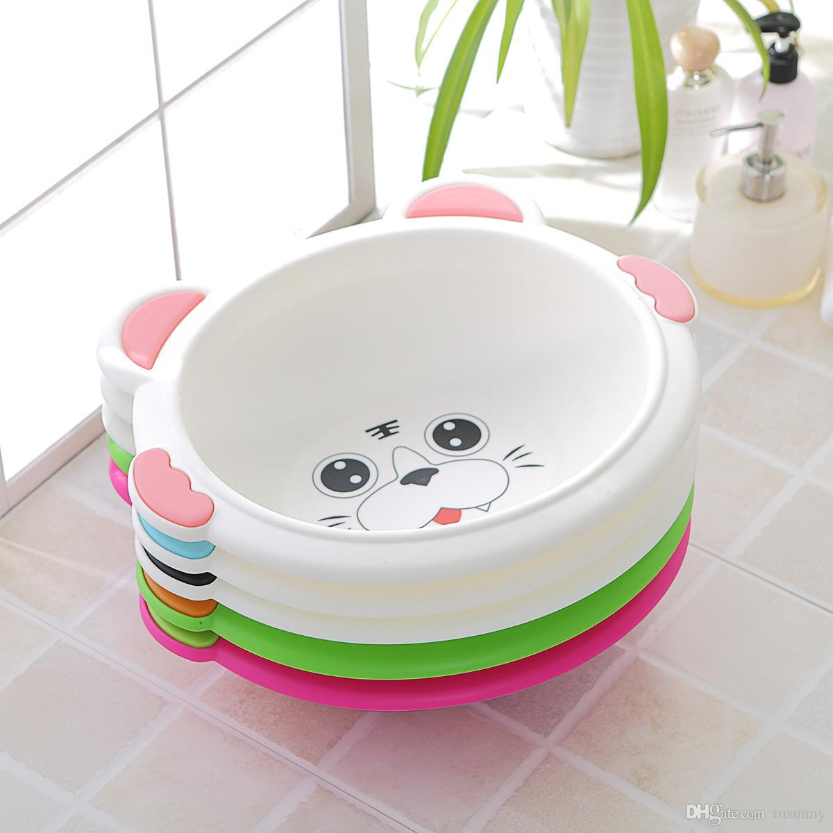 2018 Baby Tub Cute Baby Bath Plastic Child Thickening Large Baby ...