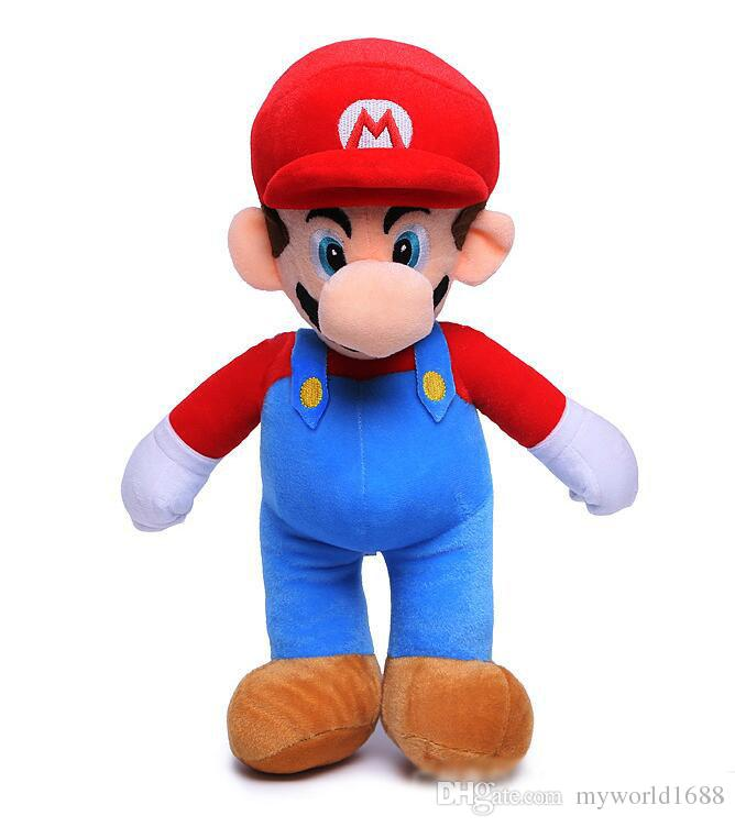 Super Mario Bros. Mario & Luigi Plush Doll Stuffed Animal Toy Super Mario Mario Mushroom Plush Toys Doll 25 cm