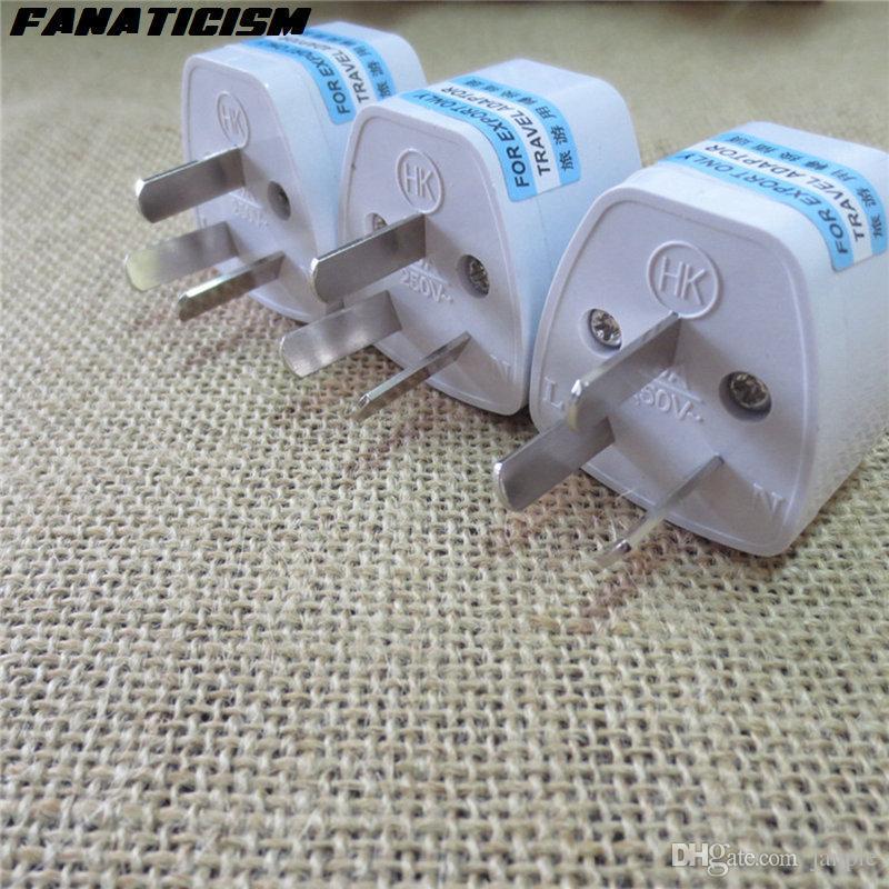 Alta calidad internacional universal de US / UK / AU Para la UE Plug Adapter Converter 3 pines Australia corriente ALTERNA del recorrido del enchufe eléctrico Adaptador