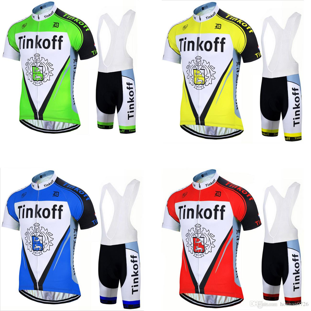 4 Styles Tinkoff Team Ropa Ciclismo Pro Men s Short Sleeve Cycling Jersey  Set. Breathable Mountain Bike Clothes Bicycle Sportswear. Gel Pad Cycling  Clothing ... 3c4ba3777