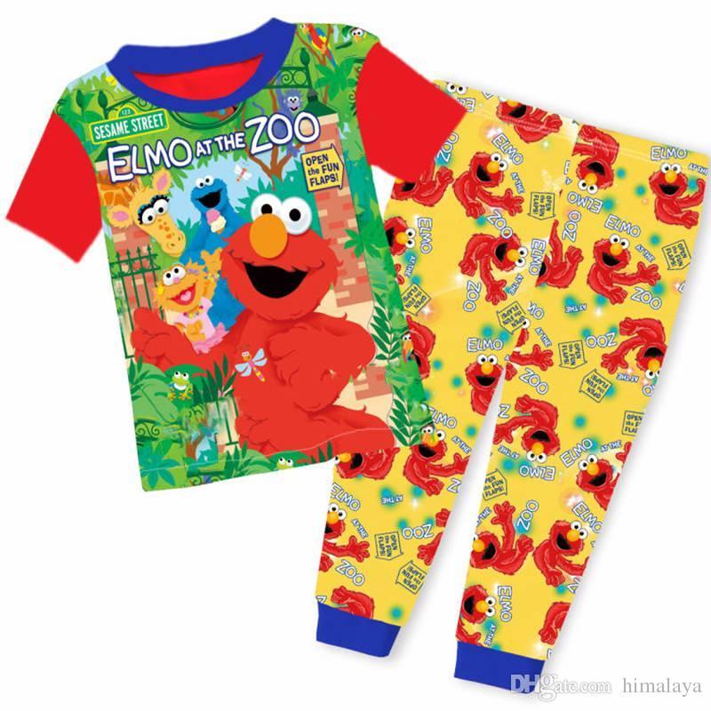 2017 Baby Elmo Clothes Wholesale Two Piece Cartoon Suit Boys Short