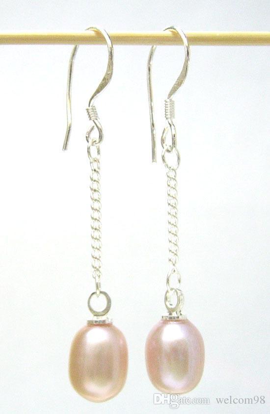 es / mode perles bijoux boucles d'oreilles crochet en argent pour cadeau artisanat bijoux violet UC1 livraison gratuite