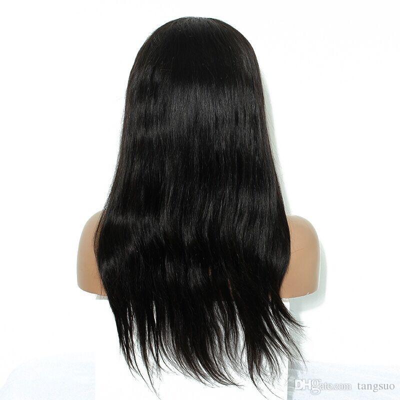 Mujeres europeas americanas peluca sintética recta dama negro frente de encaje a prueba de calor pelucas de cosplay gancho de mano de alta calidad Artificia gorras de pelo