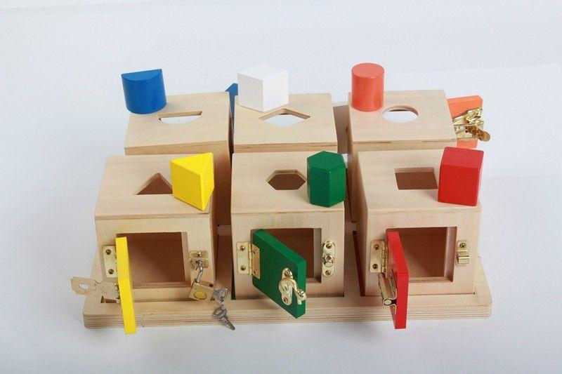 Cheap Educational Toys : New wooden baby toys montessori separation wisdom lockbox early
