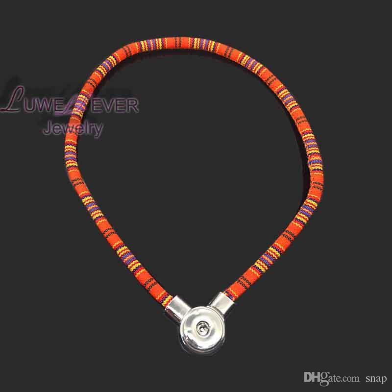 hochwertige 067 böhmischen nationalen Stil diy Druckknopf Charme Magnetverschluss Anhänger Halskette für Frauen und Männer Fit 18mm Taste