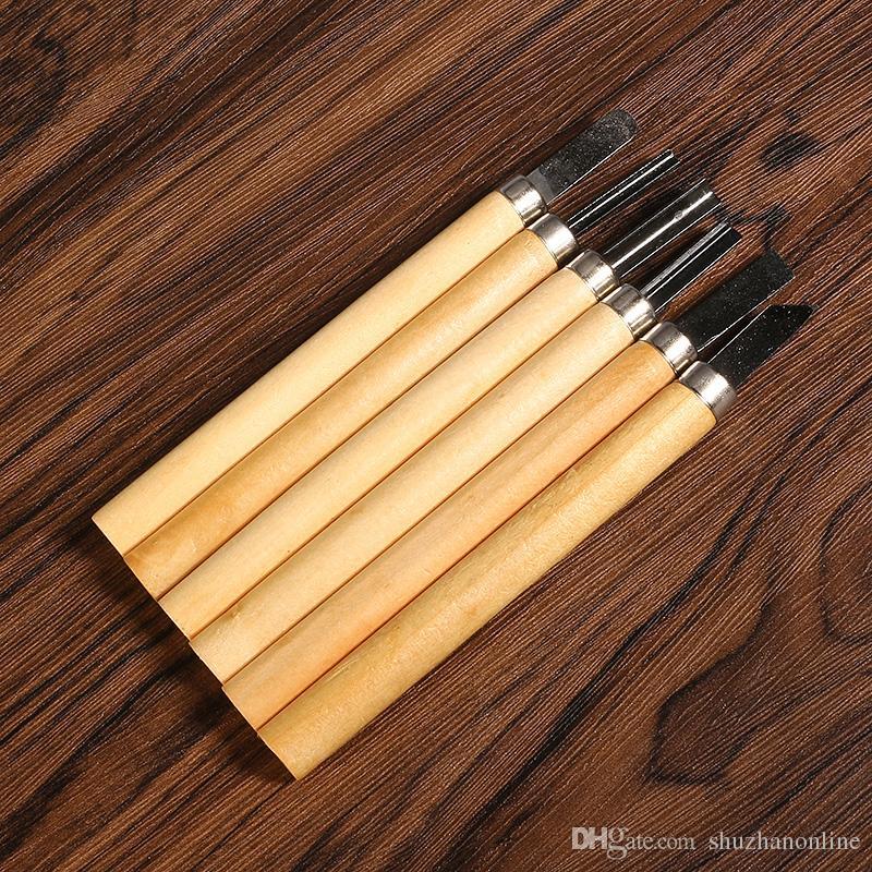 Cuchillo de talla de madera Set cinceles de mano cuchillo de arcilla suave herramientas de bricolaje
