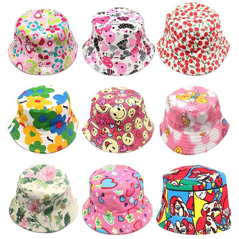 Compre 2017 Niñas Sombreros Florales Del Sol Niños Niños Visor Del Bebé  Sting Brim Sombreros Casuales Mezcla De Algodón Vestido De Moda Caps  Regalos De ... fe467bdf293