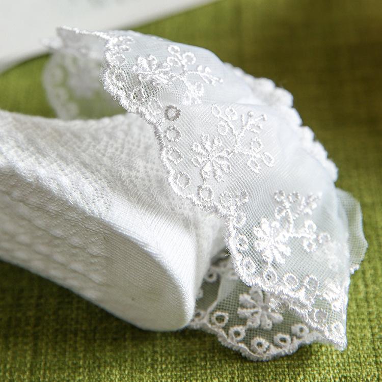 Mädchen schnüren sich Maschensocken bowknot lacework Prinzessinsocken kleiden zusätzliche performace Stützen für Baby und große Kinder 1-8T