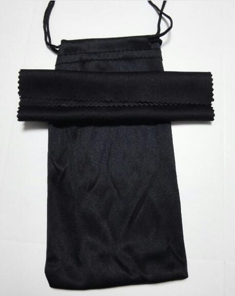 Sunglasse الأسود تنظيف القماش الحقيبة لينة النظارات حقيبة النظارات حالة المرأة والرجل النظارات أكياس + القماش 20 قطعة / الوحدة 17.5 * 9 سنتيمتر
