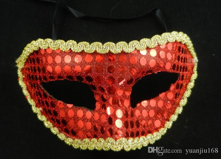 Boże Narodzenie Cekiny Koronki Party Maski Masquerade Maska Wenecka Maska Kobiety i Mężczyzna Moda Maska 20 sztuk / partia G387