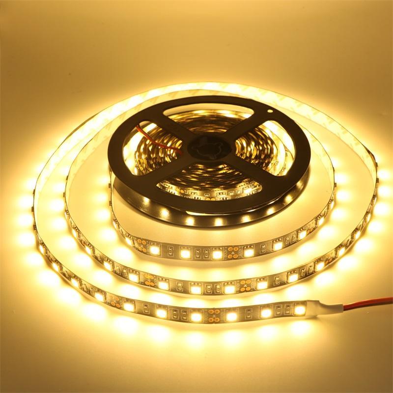 100M LED Strip 5050 Black PCB IP65 Waterproof IP20 DC12V Flexible LED Light 60 LED/M RGB 5050 LED Strip Blue Green Red