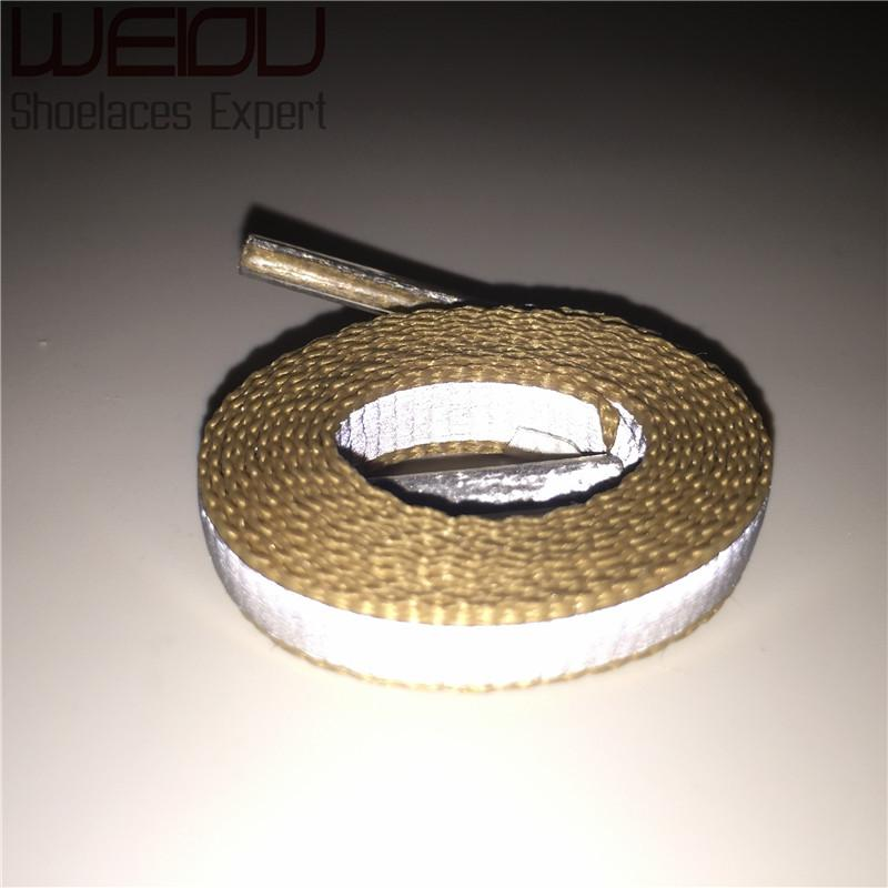 Weiou  4M Reflective Bootlace Shoelaces Visibility Flat Sport Running Shoe Laces Running Cycling Safty Shoestrings Cords 90cm