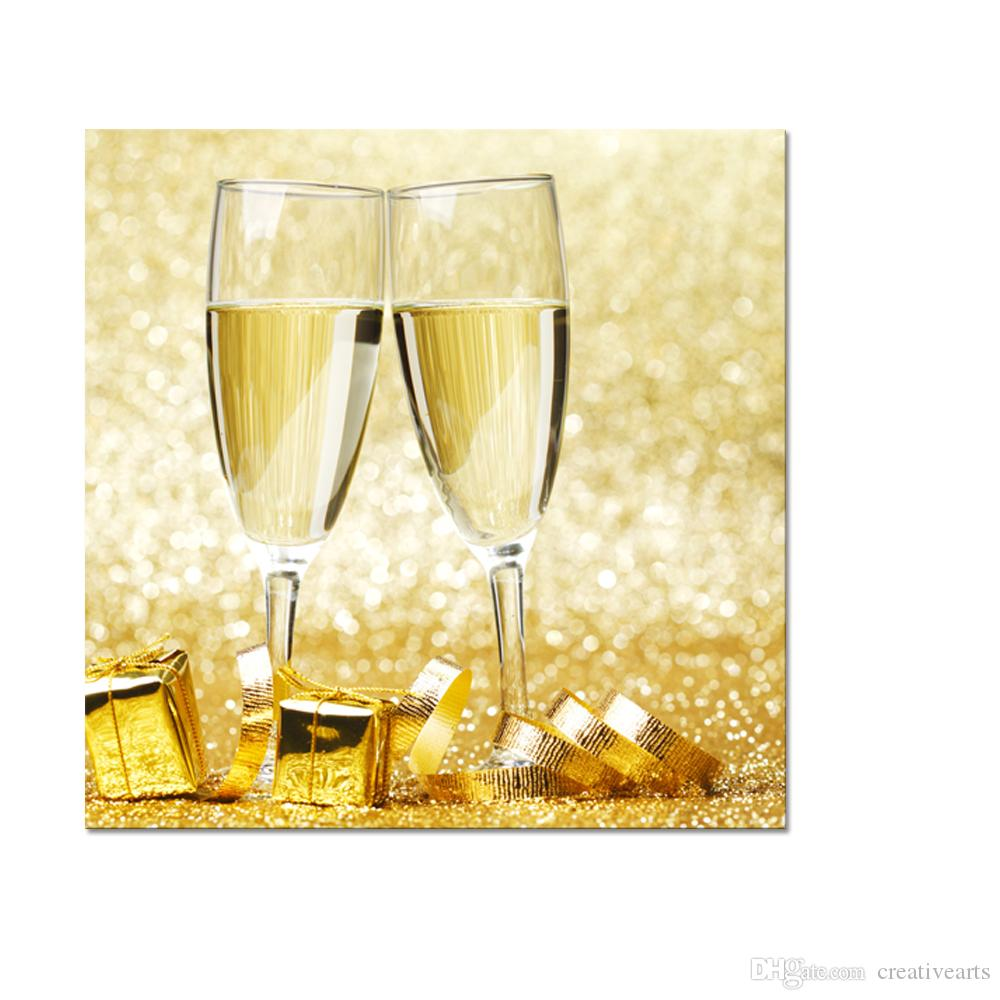 2018 I Love Champagne Canvas Wall Art Sparkling Wine Canvas Printing ...