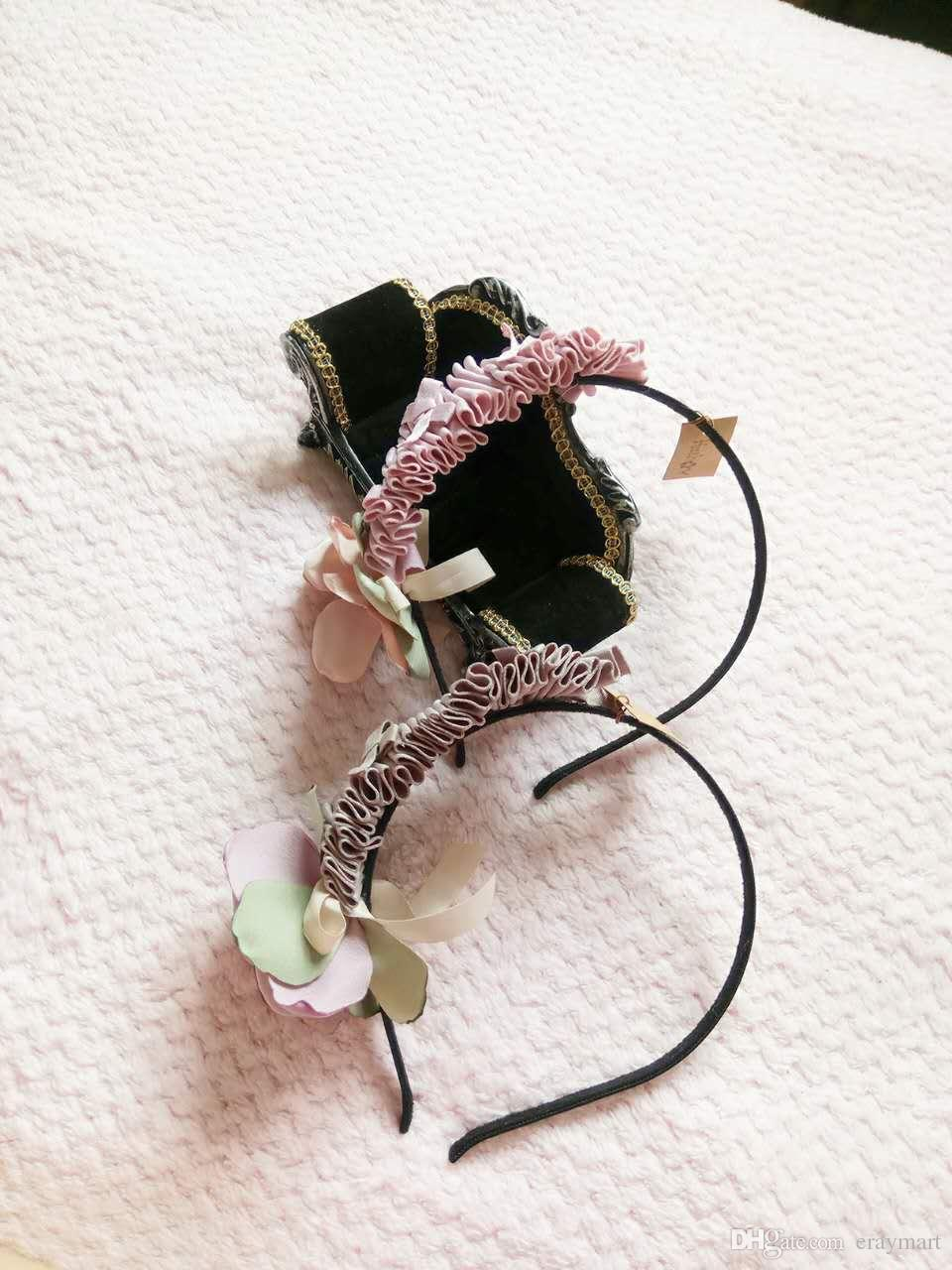 Flowers Hair Sticks For Kids Contrast Color Satin Flower Crumple Bow