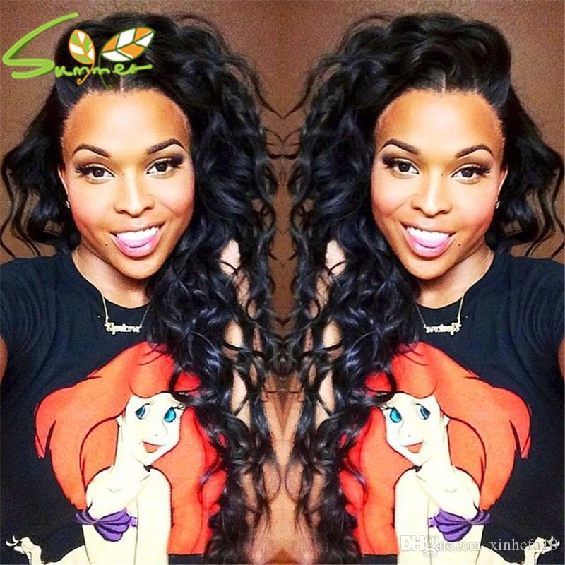 7A Full Lace Human Hair Wigs For Black Women Brazilian Deep Wave Full Lace Wigs Virgin Hair Glueless Lace Front Human Hair Wigs