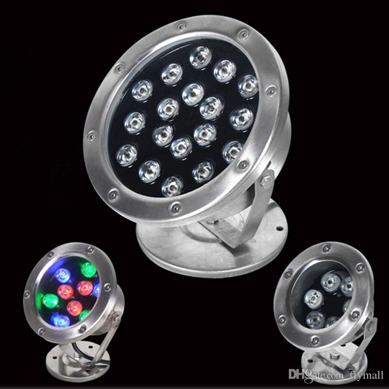 Led Lamps 6w 12w 24w Ip68 Led Underwater Light Rgb Led Light Light Colorful Water Led Pool Light Dmx512 Fountain Lamp Led Underwater Lights & Lighting